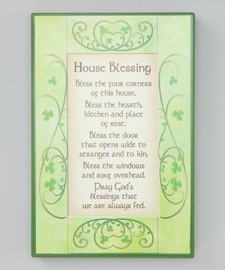 Irish House Blessing Sign