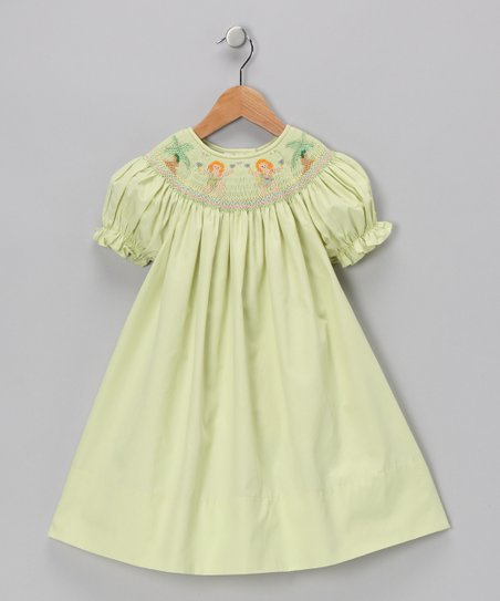 Lime Hula Girls Bishop Dress - Infant