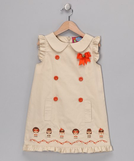 Khaki Bono Dress - Girls