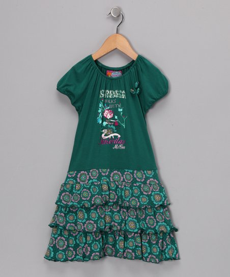 Green Christy Dress - Girls