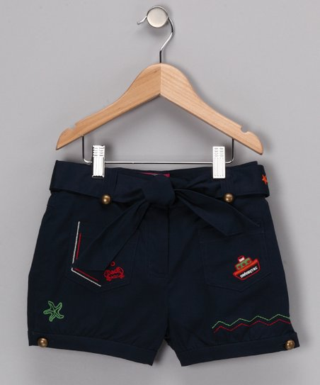 Navy Cummings Shorts - Girls