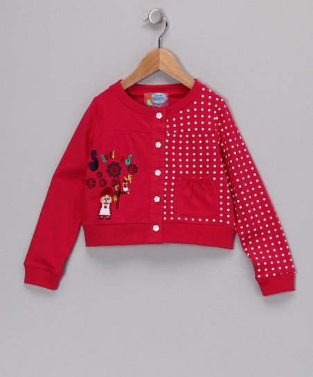 Red June Cardigan - Girls