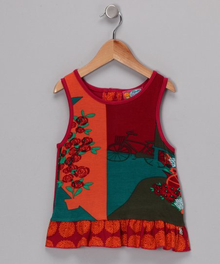 Fuchsia & Orange Maude Tank - Girls