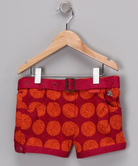 Fuchsia & Orange Maude Shorts - Girls
