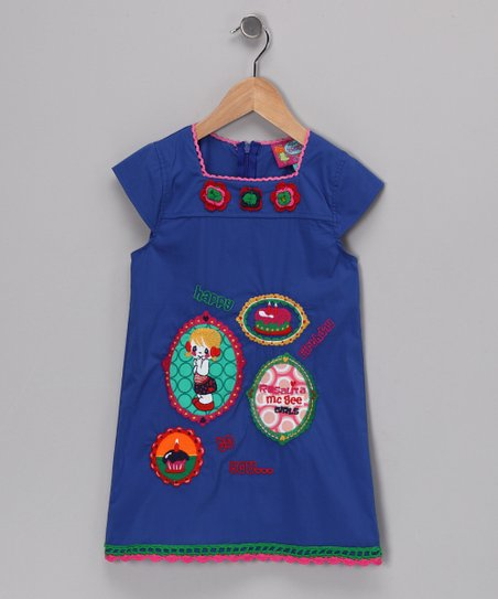 Royal Blue Phillip Dress - Girls