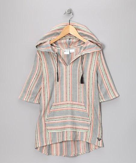 Sorbet Stripe Hooded Tunic - Girls