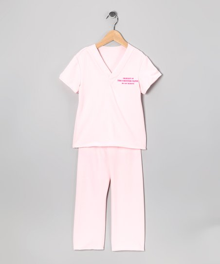Pink Veterinarian Scrub Dress-Up Top & Bottoms - Kids
