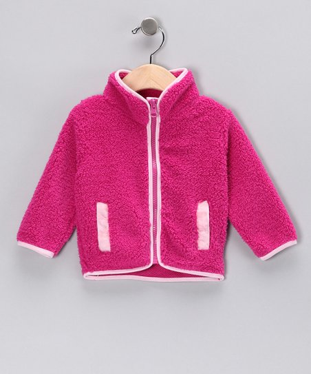Fuchsia Fleece Jacket - Infant & Toddler