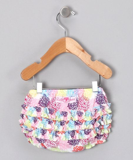 Bold Dahlia Ruffle Diaper Cover - Infant & Toddler