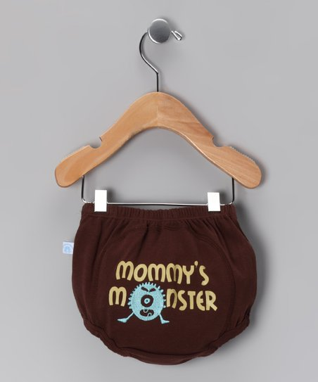Brown &#039;Mommy&#039;s Monster&#039; Diaper Cover - Infant