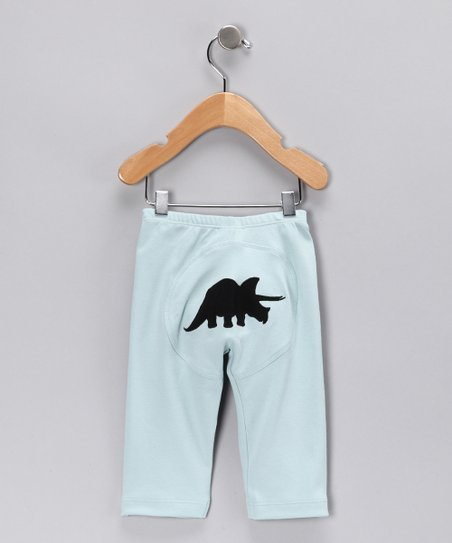 Light Blue Triceratops Pants - Infant