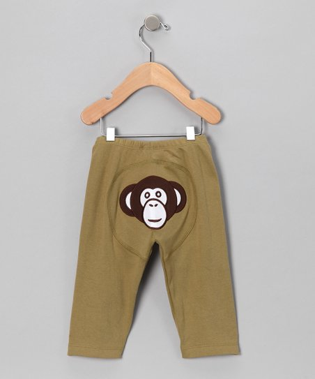 Olive Monkey Pants - Infant & Toddler