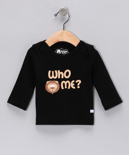 Black 'Who Me?' Tee - Infant