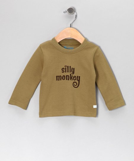 Olive 'Silly Monkey' Tee - Infant