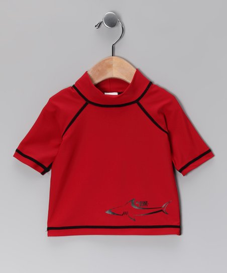Red Shark Rashguard - Infant &amp; Toddler