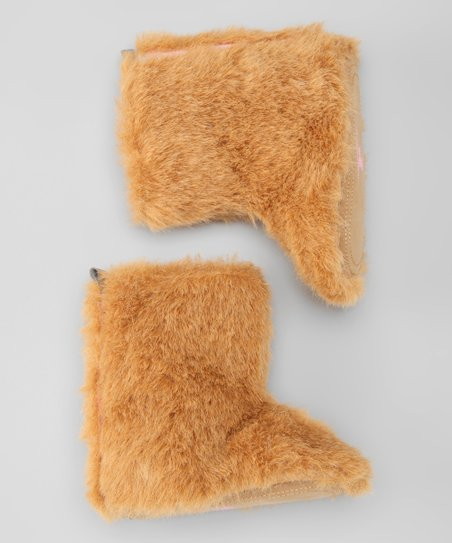 Latte Fuzzy Boot