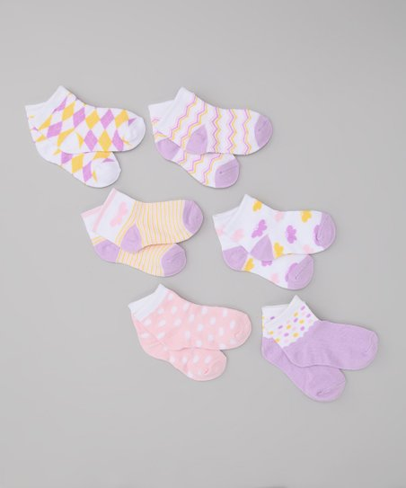 Lavender & Yellow Socks Set
