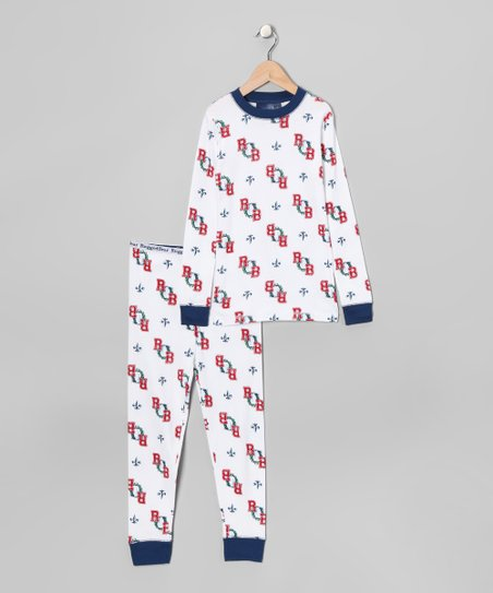 White Bear Pajama Set - Boys