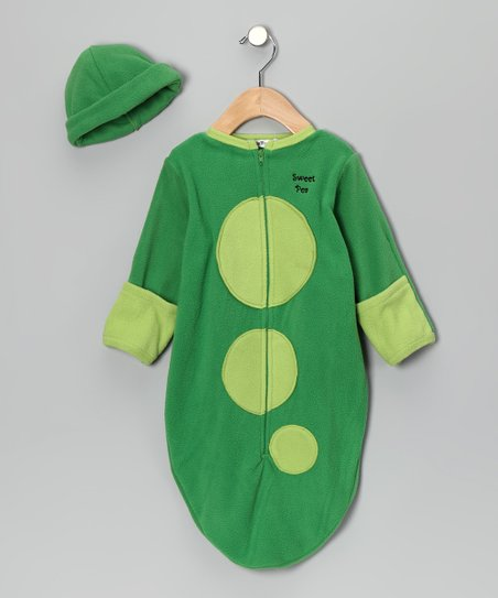 Green Pea Pod Beanie & Bunting Bag - Infant