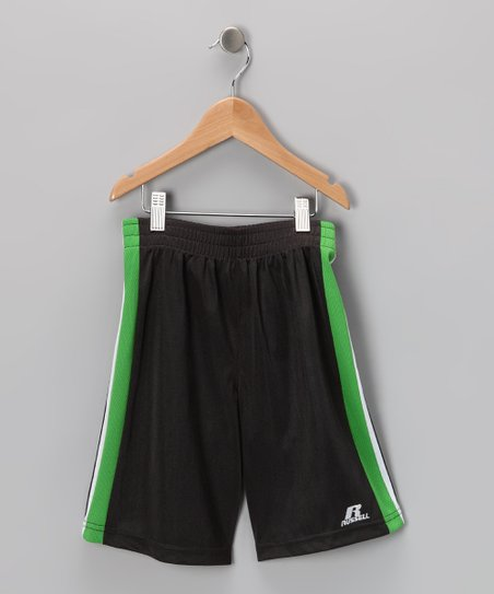 Russell Athletic Graphite & Green Bank Shot Shorts - Boys