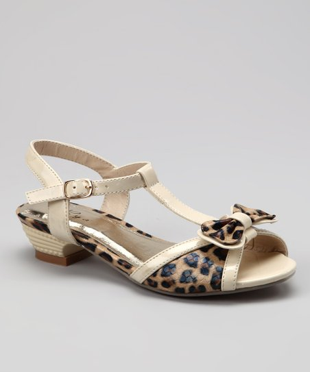 Ivory Leopard Sandal