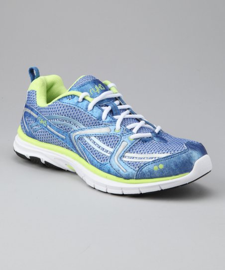 Metallic Twilight Blue &amp; White Transpire Cross-Training Shoe