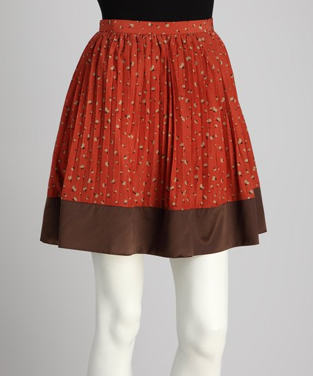 Brick & Brown Skirt