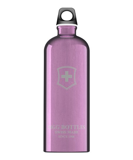 Violet Swiss Emblem 33.8-Oz. Water Bottle