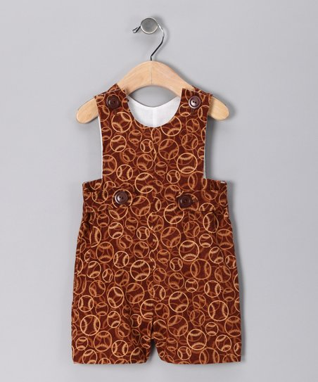 Brown Baseball Shortalls - Infant
