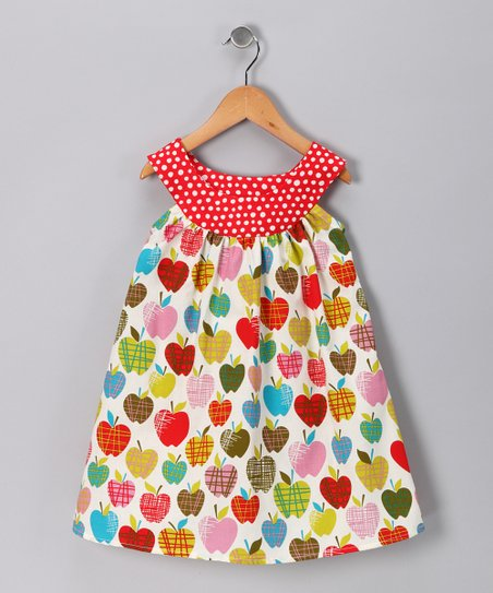 Rainbow Apple Yoke Dress - Toddler & Girls