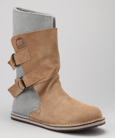 British Tan Chipahko Felt Boot - Kids