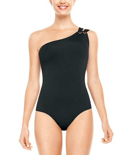 SPANX® Golden Touch One-Shoulder One-Piece - Black