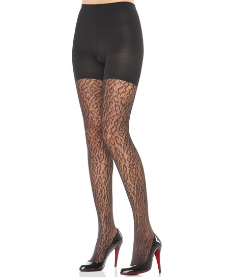 SPANX® Animal Print Tight-End Tights - Black