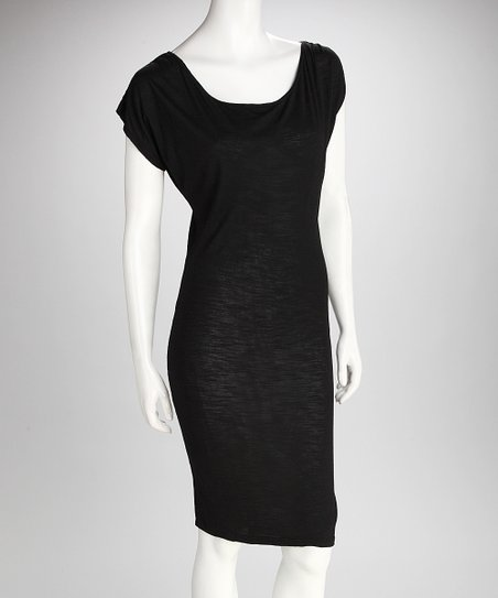 SUST Black Disco Hemp Dress