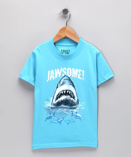 Light Blue 'Jawsome' Tee - Infant, Toddler & Boys