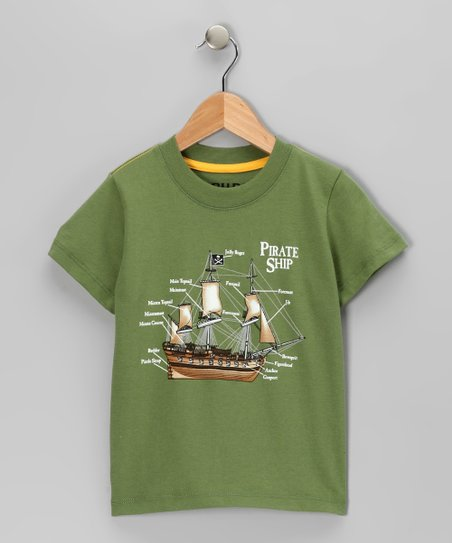 Green 'Pirate Ship' Tee - Infant