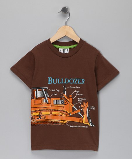 Brown 'Bulldozer' Tee - Infant