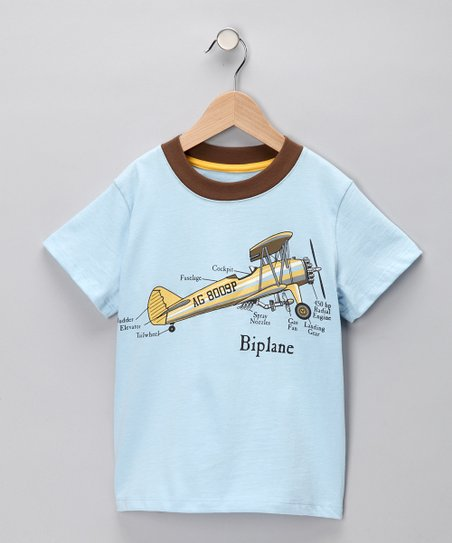 Light Blue &#039;Biplane&#039; Tee - Boys