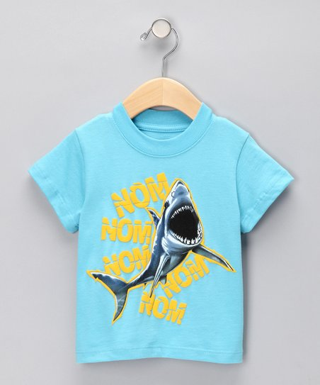 Turquoise 'Nom Nom' Shark Tee - Infant & Toddler