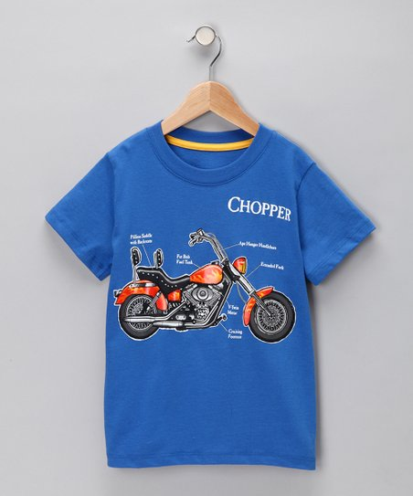 Blue 'Chopper' Tee - Infant & Toddler