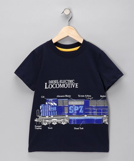Navy &#039;Locomotive&#039; Tee - Infant &amp; Toddler