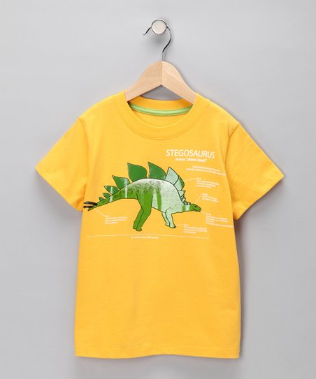 Yellow 'Stegosaurus' Tee - Infant
