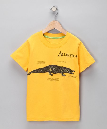 Yellow 'Alligator' Tee - Infant & Toddler