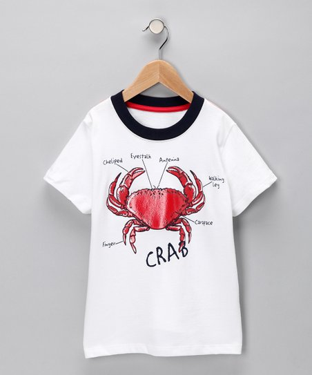 White 'Crab' Tee - Infant, Toddler & Boys
