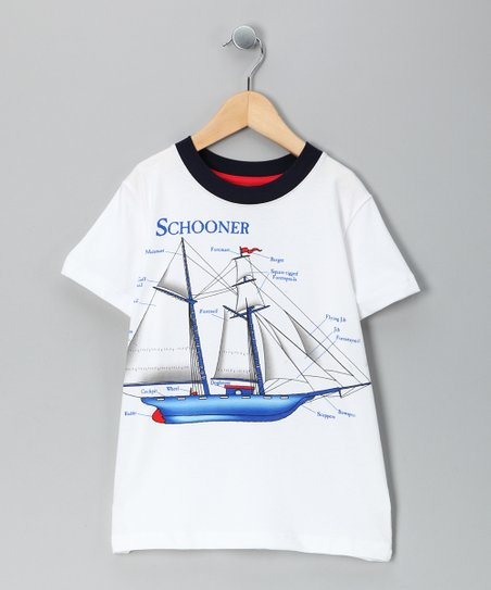 White 'Schooner' Tee - Toddler & Boys