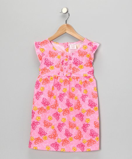 Pink Butterfly Dress - Girls