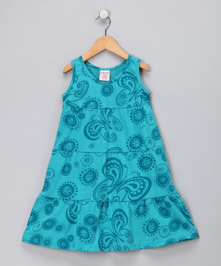 Blue Butterfly Dress - Toddler