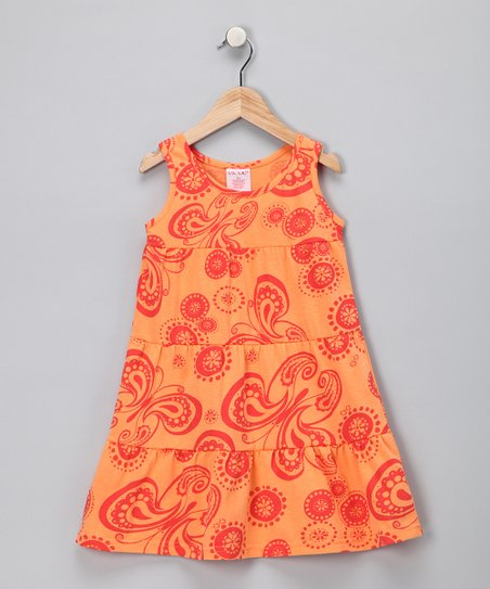 Orange Butterfly Dress - Toddler