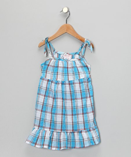 Blue Plaid Dress - Toddler