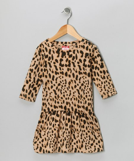 Brown Cheetah Dress - Girls